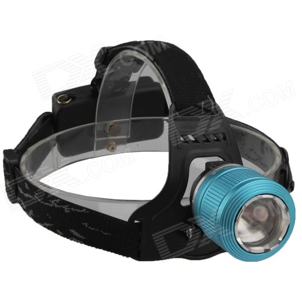 SingFire SF-558B 200lm 4-Mode White+Green LED Zooming Headlight - Blue (2 x 18650) singfire sf 558g 200lm 4 mode white green led zooming headlight 2 x 18650