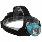 SingFire SF-558B 2 x Cree XP-E R2 200lm 4-Mode White+Green LED Zooming Headlight - Blue (2 x 18650)