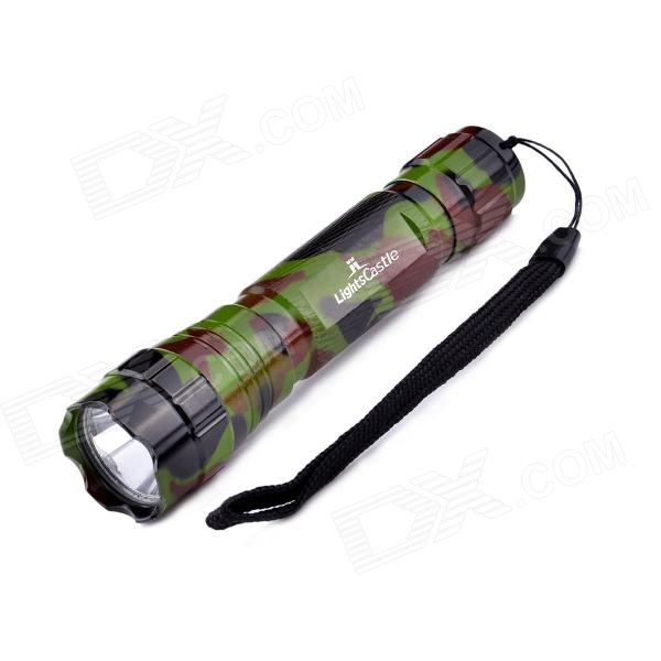 LightsCastle WF-501B LED 600LM 3-Mode Flashlight w/ Strap - Camouflage Color (1x18650)