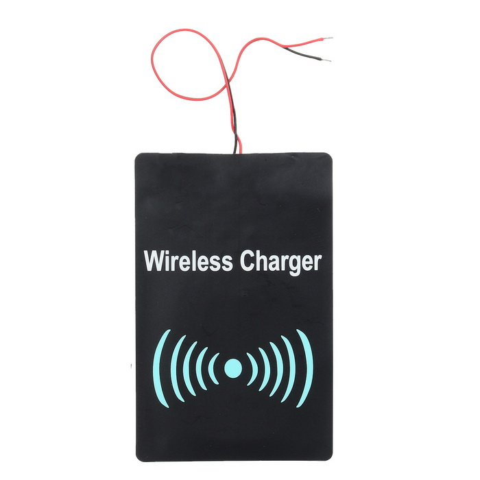 Universal DC 5V 1000mA Qi Wireless Charging Receiving Module - Black