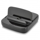 Portable Flip-open Charging + Data Sync Station for LG NEXUS 5 - Black