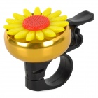 1285-09 Cute Chrysanthemum Style Bell for Bicycle - Golden + Yellow
