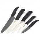 "RIMON T8080 3"" + 4"" + 5"" + 6"" + 7"" Ceramic Knives Set - White + Black"