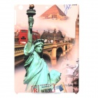 a-336 The Statue of Liberty Pattern Protective PC Back Case for Ipad AIR - Grey + Beige