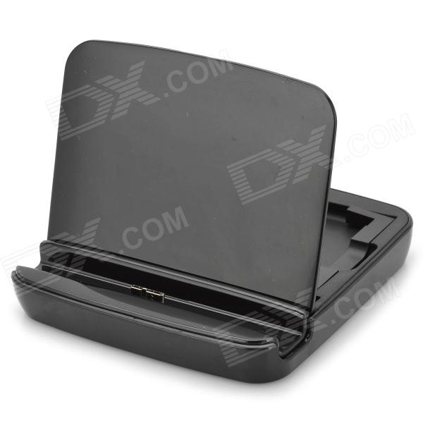 Portable Charging Docking Station w/ Battery Dock for Samsung Galaxy Note 3 N9006 / N9005 - Black usb charging dock station w usb data cable 3800mah battery for samsung galaxy note 2 n7100