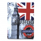 a-336 Big Ben / UK Flag Pattern Protective PC Back Case for Ipad AIR - Grey + Black