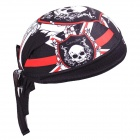 TOPCYCLING Cycling UV Protection Sweat-absorbent Hat - Black + Red + White