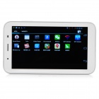 "PKO E701 7"" Android 4.2 Dual-Core Tablet PC w / 512MB RAM / 4GB ROM / 2 x SIM-valkoinen + hopea"