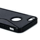 S Pattern Protective TPU Back Case for Iphone 5 - Black