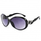 Fashion Outdoor UV400 Protection Star Pattern PC Frame Resin Lens Sunglasses for Women - Black