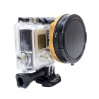 Fat Cat 58mm Converter + CPL Filter Circular Polarizer Lens Filter for Gopro Hero3 Housing - Golden