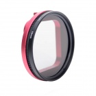 Fat Cat 58mm Converter + CPL Filter Circular Polarizer Lens Filter for Gopro Hero3 Housing - Red