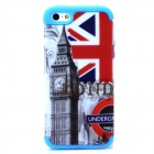 a-335 2-in-1 Big Ben Pattern Protective PC + Silicone Back Case for Iphone 5 / 5s - Red + White
