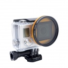 Fat Cat 52mm Converter + CPL Filter Circular Polarizer Lens Filter for Gopro Hero3 Housing - Golden