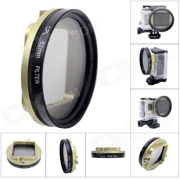 Fat Cat 52mm Converter + CPL Filter Circular Polarizer Lens Filter for Gopro Hero3+ Housing - Green sierra wireless em7345 fru 04x6015 gobi5000 4g lte fdd hspa gprs ngff wwan card for thinkpad ibm t440 w540 t440p x240 l540 w540