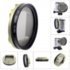 Fat Cat 52mm Converter + CPL Filter Circular Polarizer Lens Filter for Gopro Hero3+ Housing - Green