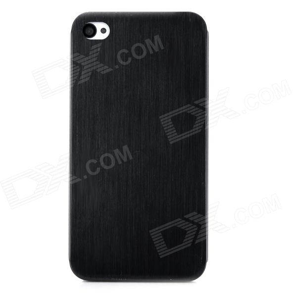 Protective Titanium Alloy Back Case for Iphone 4 / 4s - Black