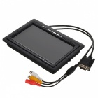 "S-what VGA-7 7"" Screen 1-Din Car Monitor w/ AV / VGA - Black"
