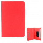 "Universal Protective PU Leather + Silicone Flip-Open Case for 7"" Tablets - Red"