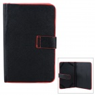 "XK-7 Protective PU Case for 7"" Tablets - Black + Red"