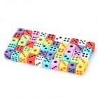 Colorful Super Mini Gaming Dice Toy - Multicolored (50-Pack)