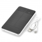 "Compact ""10000mAh"" Touch Control Dual USB Output Solar Energy Power Bank - Silver + Black"