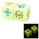 Lover's Glow-in-the-Dark Dice - Red + Blue (2 PCS)