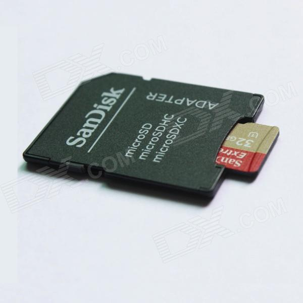 SanDisk High Speed UHS-I Micro SD / TF Memory Card w/ Adapter - Golden (32GB)