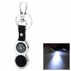 Zinc Alloy Waist Hanged Keychain w/ LED Light / Compass