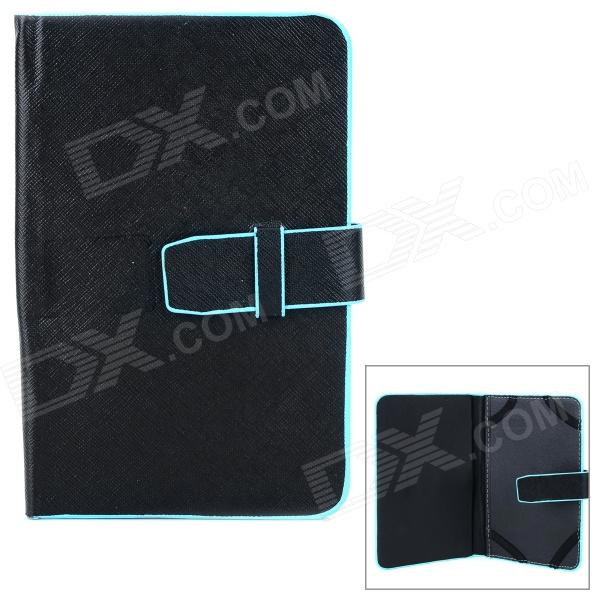 XK-7 Protective PU Case for 7 Tablets - Black + Blue soft neoprene protective pouch case for ipad 9 7 tablets black