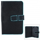 "XK-7 Protective PU Case for 7"" Tablets - Black + Blue"