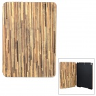 Wood Pattern Protective PC + PU Case w/ Stand for Ipad AIR - Light Green