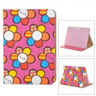 Flower Pattern Protective PU Case for Samsung Galaxy Tab 3 P5200