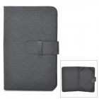 "Universal Protective PU Leather Flip-open Case for 7"" Tablet PC - Black"