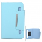 "Universal Protective PU Leather + Silicone Case w/ Suction Cups for 7"" Tablet PC - Light Blue"