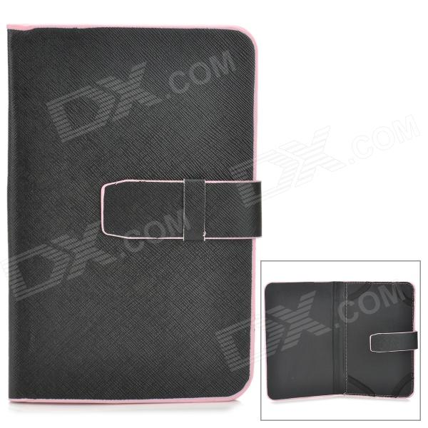 XK-7 Protective PU Leather Case for 7 Tablet PC - Black + Pink protective pu leather case for 9 7 tablet pc deep pink