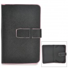 "XK-7 Protective PU Leather Case for 7"" Tablet PC - Black + Pink"