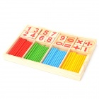 Children's Intelligence Education Arithmetic Learning Sticks Toy - Wooden + Blue