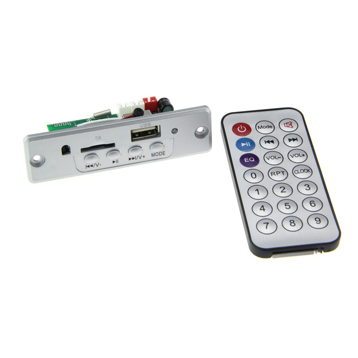 Navo 5V MP3 Módulo Player w / Bluetooth / FM / TF / USB - Prata
