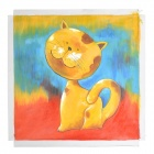 Iarts DXK (1123) Hand-painted Cat il Painting Decorative Artwork - Multicolored