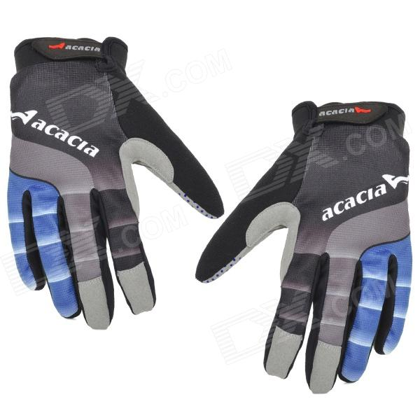 Acacia 0394307 Cycling Full-Finger Touch Screen Gloves - Blue + Black (Size XL)