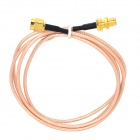 SMA Female to Male Antenna Extender Cable for Wireless Router / Network Card - Golden (1m)