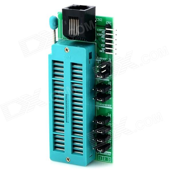 Universal ABS Programming Block / Seat for ICD2 / PICKit 2 / 3 - Green