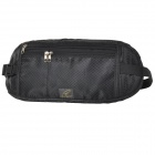 HGY Oxford Fabric Multi-pocketed Waist Bag - Black