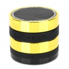 Z-B97 Bluetooth V2.1 3W MP3 Speaker w/ TF / Mini USB / FM - Black + Golden