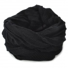 Dual-Side Usable Woolen Hat / Scarf - Black