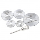 WLXY WL-7205 High-Speed Steel Saw Blade Set - Silver