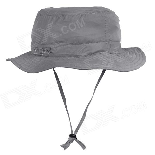 OUTFLY B09004 Quick Dry Mountaineering Travel Bush Hat Cap - Grey