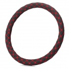 M2-A Environmental Fiber Car Steering Wheel Cover - Black + Red (Size M)