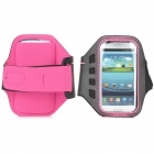 Stylish Sports Gym Neoprene Armband Case for Samsung Galaxy S4 i9500 / S3 i9300 - Deep Pink + Black